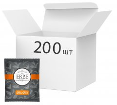 Упаковка черного чая Erbe Earl Grey в пакетиках 200 шт х 1.5 г (4820097819752)
