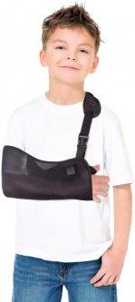 Бандаж для руки поддерживающий (косыночная повязка сетка) Торос-Груп Тип 610с детский размер 0 Черный (4820114089779)