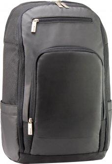 """Рюкзак деловой Optima 18"""" Techno мужской 0.7 кг 26-35 л Черный с выделенными элементами (O96916-01)"""