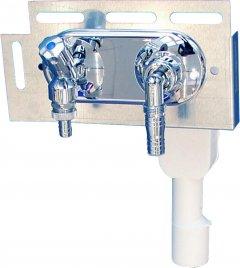 Сифон скрытого монтажа для стиральной машины SANIT 31606 40/50 мм двойной