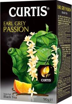 Чай черный со вкусом бергамота нотками ванили и цитрусов Curtis Earl Grey Passion 90 г (4823063705301)