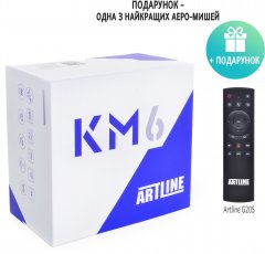 ARTLINE TvBox KM6 4/64GB + Пульт AirMouse Voice Control G20s в подарок!