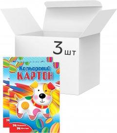 Упаковка картона цветного Аркуш А4 14 листов 14 цветов 230 г/м² 3 шт (1CC105)