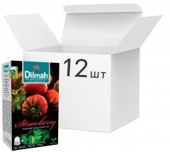 Упаковка чая Dilmah черного Клубника 12 пачек по 20 пакетиков (19312631142225)