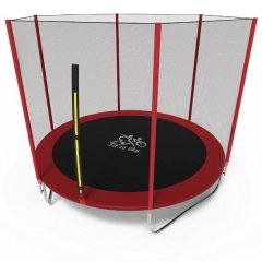Батут Olimpic Sports FitToSky 252 см з захисною сіткою Червоний/Чорний