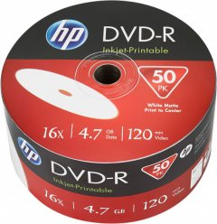HP DVD-R 4.7 GB 16X IJ Print 50 шт (69302)