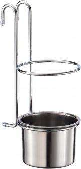 Стакан для столовых приборов на рейлинг Lemax Хром (YJ-G017 E)