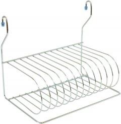 Сушка для посуды навесная Lemax для рейлинга матовый Никель (MX-076 NM)