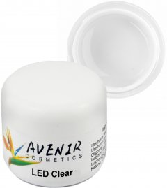 Гель для наращивания ногтей Avenir Cosmetics LED Clear 15 мл (5900308133118)
