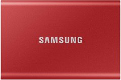 Samsung Portable SSD T7 500GB USB 3.2 Type-C (MU-PC500R/WW) External Red