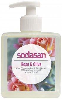 Органическое жидкое мыло Sodasan Rose-Olive тонизирующее с розовым и оливковым маслами 300 мл (4019886076364)