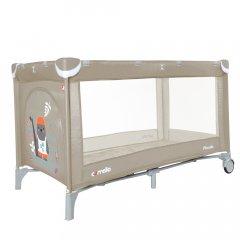 Манеж CARRELLO Piccolo CRL-9203/1 Sand Beige з жорстким дном і 2 колесами + матрац + сумка-переноска