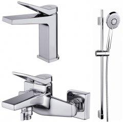 Набор смесителей для ванной комнаты 3-в-1 CERSANIT Cromo B247 (S601-127)