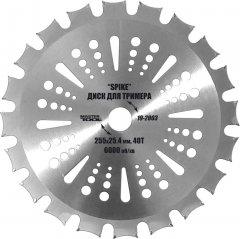 Диск для триммера Mastertool Spike 255 x 25.4 мм 40Т с победитовой напайкой (19-2003)