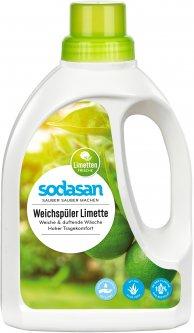 Органический смягчитель-ополаскиватель тканей Sodasan Fabric Softener Лайм для быстрой глажки 750 мл (4019886016162)