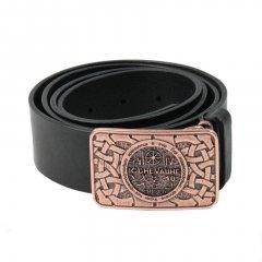 Ремень с пряжкой Магическое кольцо EGR Кожа Металл 120-130 см Черный Медный (17946)