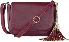 Стильная женская сумка на ремне из мягкой эко-кожи Adleys бордо (FB1281)