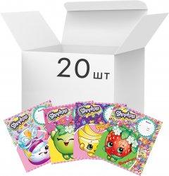 Упаковка школьных тетрадей Перо А5 в клетку 18 листов на скобе Shopkins 20 шт (119752)