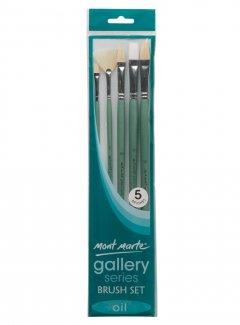 Набор кистей для масляной живописи Mont Marte Gallery 5 шт. BMHS0024