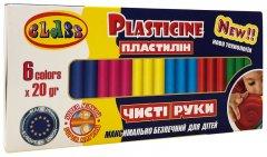 Пластилин Class Чистые руки ECO Maxi 6 цветов 120 г (7643С) (8591662764307)