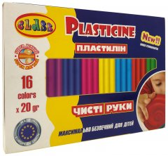 Пластилин Class Чистые руки ECO Maxi 16 цветов 320 г (7647С) (8591662764703)