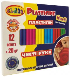 Пластилин Class Чистые руки ECO Maxi 12 цветов 240 г (7646С) (8591662764604)