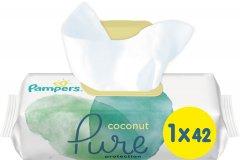 Детские влажные салфетки Pampers Pure Coconut 42 шт (8001841708676)