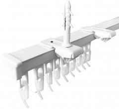 Карниз алюминиевый Алютерра Однорядный 150 см Белый (801060 150 см)
