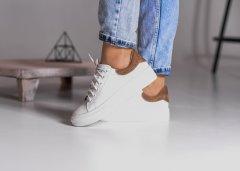 Кеди Maya Shoes 2575 Білий з коричневим 38р