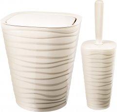 Набор аксессуаров для ванной комнаты PLANET Welle 2 предмета кремовый