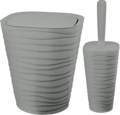 Набор аксессуаров для ванной комнаты PLANET Welle 2 предмета серый