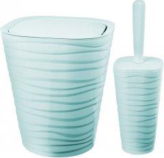 Набор аксессуаров для ванной комнаты PLANET Welle 2 предмета серо-голубой