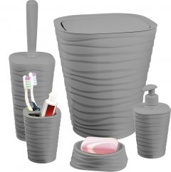 Набор аксессуаров для ванной комнаты PLANET Welle 5 предметов серый