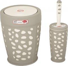 Набор аксессуаров для ванной комнаты PLANET Stone 2 предмета серый/кремовый