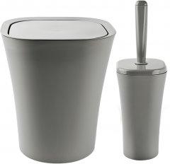 Набор аксессуаров для ванной комнаты PLANET Papillon 2 предмета серый