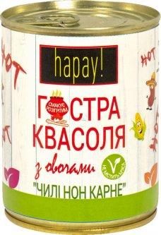 Острая фасоль с овощами hapay! Чили кон карне 340 г (4820184611283)