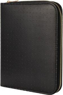 Блокнот из эко-кожи на молнии Maxi 24х20 см 80 листов линия черный (MX26263)