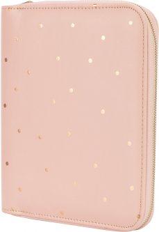 Блокнот из эко-кожи на молнии Maxi 24х20 см 80 листов линия розовый (MX26262)