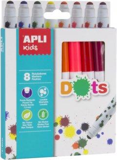 Набор маркеров Apli Kids Dots 8 цветов (16805) (8410782168058)