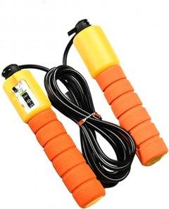 Фитнес скакалка со счетчиком (9 feet) Оранжевая, (1007928-Orange-1)