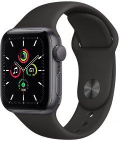 Смарт-часы Apple Watch SE GPS 40mm Space Grey Aluminium Case with Black Sport Band (MYDP2UL/A)