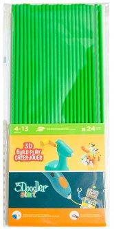 Набор стержней для 3D-ручки 3Doodler Start Зеленый 24 шт (3DS-ECO07-GREEN-24)
