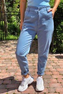 Джинсы с завышенной талией на резинке Busem - джинс цвет, 38р (4976)