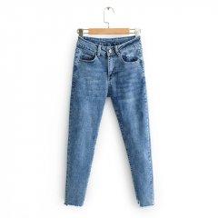 Джинси жіночі distressed з еластичного деніму Cloud Berni Fashion (28) Синій (55831)