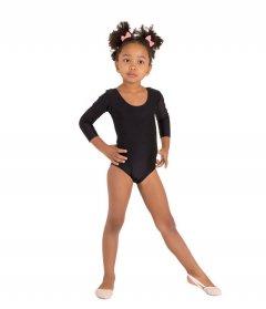Купальник для гімнастики і танців Little Dancer DR-56-BK чорний розмір 38 (ріст 146-152 см)