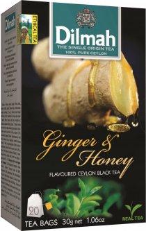 Чай черный пакетированный Dilmah Имбирь и мед 1.5 г х 20 шт (9312631142112)