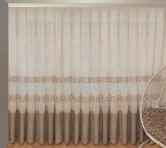 Тюль Декор-Ин Барселона Бежево-кремовый с вышивкой на льне 255х300 (Vi 100003) (ROZ6400050198)