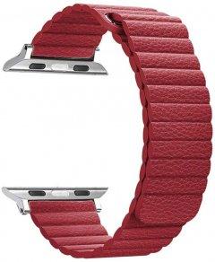 Ремешок ArmorStandart Leather Loop для Apple Watch All Series 38-40mm Red (ARM48656)