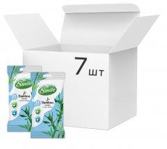 Упаковкавлажных салфетокSmileсэкстрактомбамбука 7 пачек по 15 шт (42224366_4823071642636)