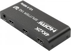 Сплиттер PowerPlant HDMI 1x2 V2.0, 3D, 4K (CA912476)